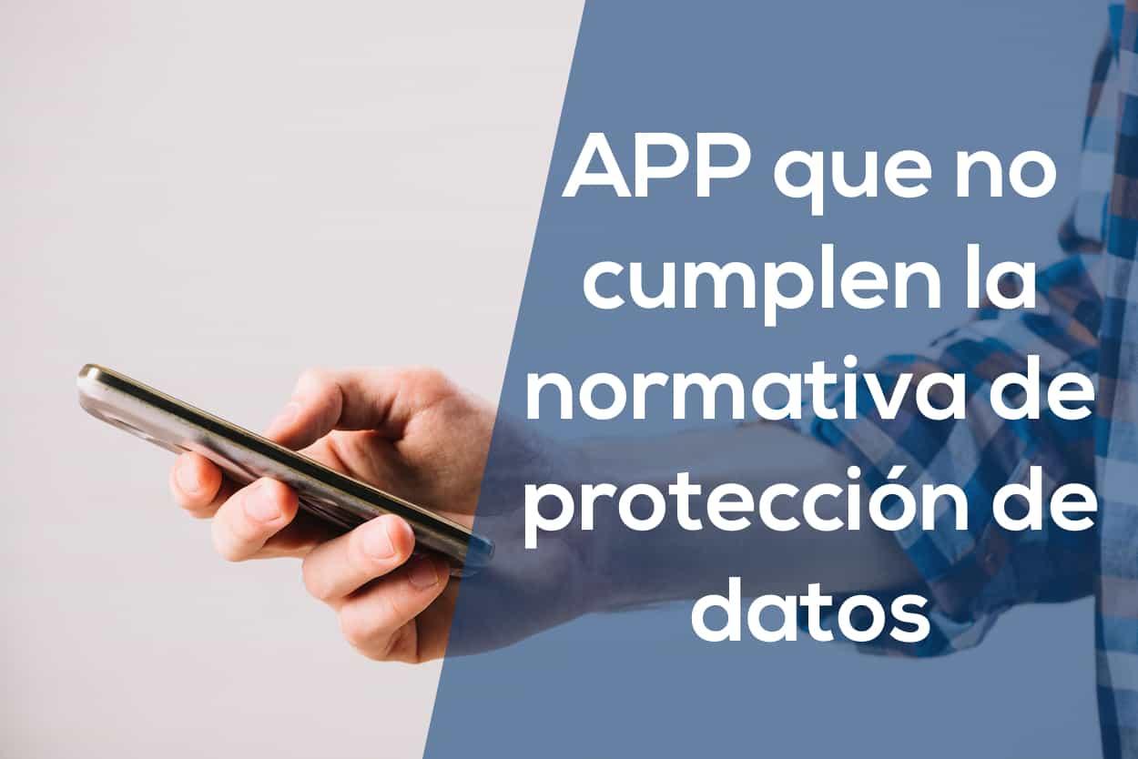 app incumplen la protección de datos